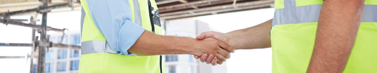 construction workers building relationships