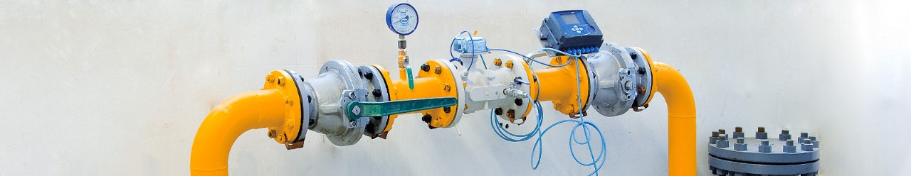 industrial gas piping valves and gas meters