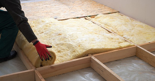 wool insulation in floor
